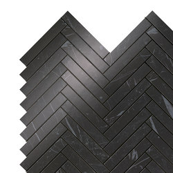 Marvel Stone mos herring bone nero marquina | Ceramic panels | Atlas Concorde