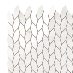 Marvel Stone mosaico twist bianco dolomite | Ceramic panels | Atlas Concorde