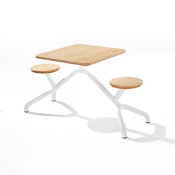 Pony | Restaurant tables and benches | Derlot Editions