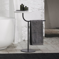 Bivio Freestanding Towel Rack With Tray | Handtuchhalter | Inbani