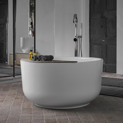 Origin Freestanding Glossy Ceramilux Bathtub | Bathtubs | Inbani