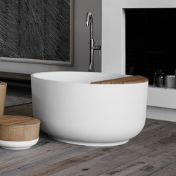 Origin Freestanding Matt Ceramilux Bathtub | Free-standing baths | Inbani