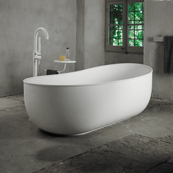 Prime Suit Free Standing Matt Solid Surface Bathtub | Free-standing baths | Inbani
