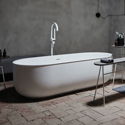 Prime Free Standing Matt Solid Surface Bathtub | Bathtubs | Inbani