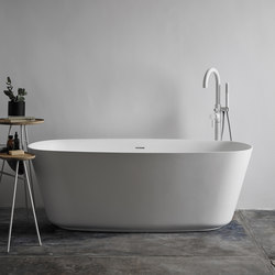 Vesta Free Standing Matt Solid Surface Bathtub | Bathtubs | Inbani