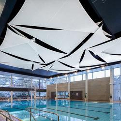 Light & Acoustic Sail   Sound absorbing suspended panels   Koch Membranen
