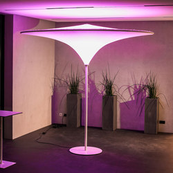 Light & Acoustic Umbrella | Luminaires sur pied | Koch Membranen