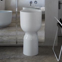 Origin Free Standing Glossy Ceramilux Washbasin | Wash basins | Inbani