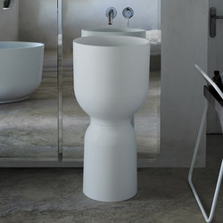 Origin Free Standing Matt Ceramilux Washbasin | Wash basins | Inbani
