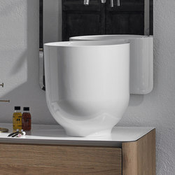 Origin Top Mounted Glossy Ceramilux H45 Washbasin | Lavabos | Inbani