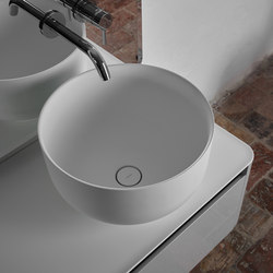 Origin Top Mounted Matt Ceramilux H25 Washbasin | Lavabi | Inbani