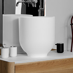 Origin Top Mounted Matt Ceramilux H45 Washbasin | Lavabi | Inbani