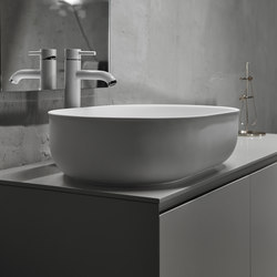 Prime Top Mounted Matt Solidsurface Washbasin | Wash basins | Inbani