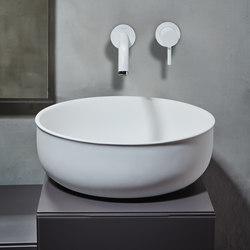 Prime Top Mounted Matt Solidsurface Washbasin | Lavabos | Inbani