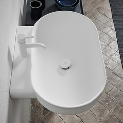 Prime Wall Mounted Matt Solidsurface Washbasin | Lavabos | Inbani