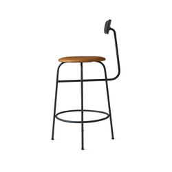 Afteroom Counter Chair | Black/Cognac | Sillas de trabajo altas | MENU