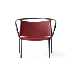 Afteroom Lounge Chair, Burgundy | Lounge chairs | MENU