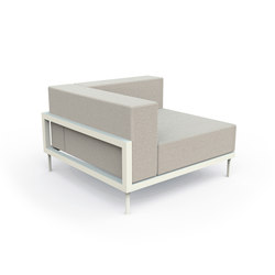 Cleo Alu Corner Sofa | Garden armchairs | Talenti