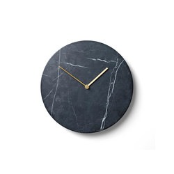 Marble Wall Clock, Black | Clocks | MENU