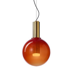 PHENOMENA pendant ferrari red gold | Suspended lights | Bomma