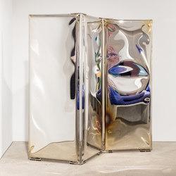 Sonar Gradient | flamed gold | Folding screens | Zieta