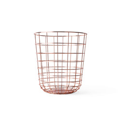 Wire Bin Copper | Waste baskets | MENU