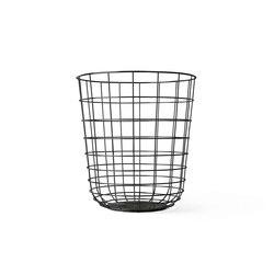 Wire Bin Black   Waste baskets   MENU