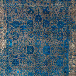 Designer Isfahan Jeziorak in Blue and Silver | Rugs | Zollanvari