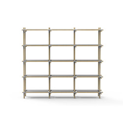 Stick System, 3x5, Grey/Light Ash | Office shelving systems | MENU