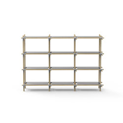 Stick System, 3x4, Grey/Light Ash | Office shelving systems | MENU