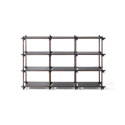 Stick System | 3x4 Black/Dark Ash | Shelving | MENU
