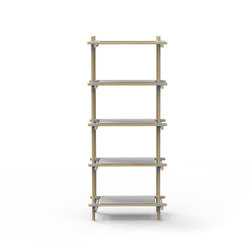 Stick System, 1x5, Grey/Light Ash | Office shelving systems | MENU