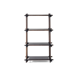 Stick System | 1x4 Black/Dark Ash | Shelving | MENU