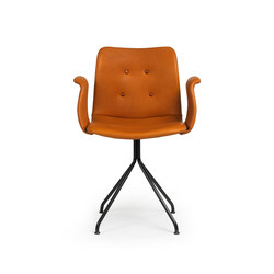 Primum Arm Chair black fixed base | Restaurant chairs | Bent Hansen