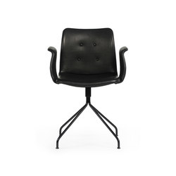 Primum Arm Chair black swivel base | Sedie ristorante | Bent Hansen