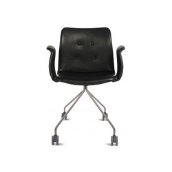 Primum Arm Chair stainless wheel base | Sillas | Bent Hansen