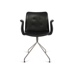 Primum Arm Chair stainless swivel base | Restaurant chairs | Bent Hansen