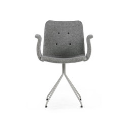 Primum Arm Chair stainless fixed base | Restaurant chairs | Bent Hansen