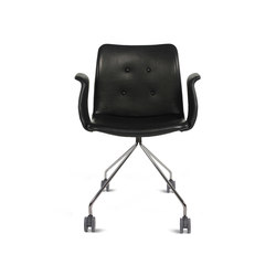 Primum Arm Chair chrome wheel base | Sedie girevoli da lavoro | Bent Hansen