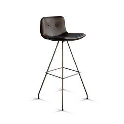 Primum Bar Stool High stainless base | Barhocker | Bent Hansen