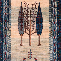 Gabbehs Flora & Fauna Framed Cypress Trees   Formatteppiche   Zollanvari