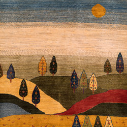 Gabbehs Landscape Naive Landscapes of my Fatherland 1 | Rugs / Designer rugs | Zollanvari