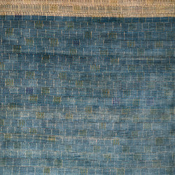 Gabbehs Abstract & Plain Tiles in Blue and Grey | Rugs | Zollanvari