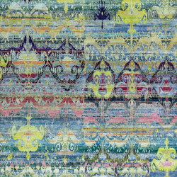Kundan Diffusion Koti Silk Baroque Ikat 2 | Formatteppiche / Designerteppiche | Zollanvari