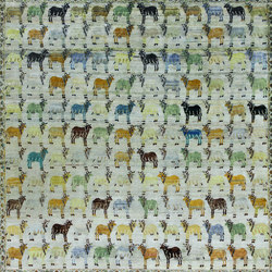 Kundan Diffusion Koti Silk Holy Cows | Alfombras / Alfombras de diseño | Zollanvari