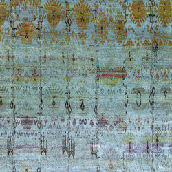 Kundan Diffusion Koti Silk Ikat Pendants and Flowers 4 | Alfombras / Alfombras de diseño | Zollanvari