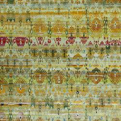 Kundan Diffusion Koti Silk Ikat Pendants and Flowers 3 | Alfombras / Alfombras de diseño | Zollanvari