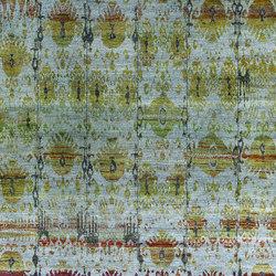 Kundan Diffusion Koti Silk Ikat Pendants and Flowers 2 | Rugs / Designer rugs | Zollanvari