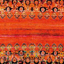Kundan Diffusion Koti Silk Mirrored Persian Frills | Alfombras / Alfombras de diseño | Zollanvari