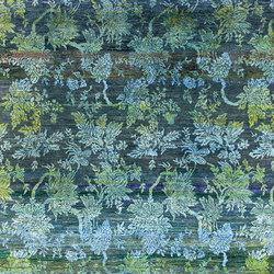 Kundan Diffusion Koti Silk Scrolling Leaves | Rugs / Designer rugs | Zollanvari